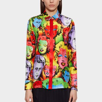 Versace Pop Art SS'91 Print Tribute Shirt for Women | US Online Store