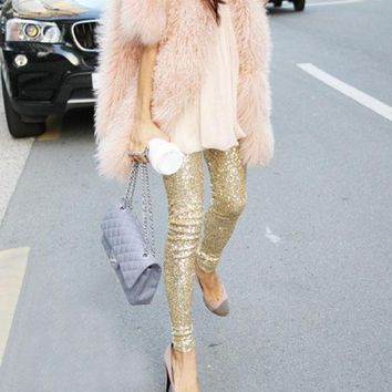 Skinny Sequin Leggings