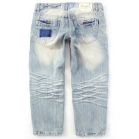 Women's ripped three-quarter long loose Jeans a13645