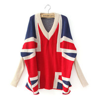 Flag Bat Long Sleeve Sweater from Cool   Style