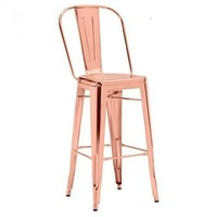 Elio Bar Stool S/2 | Rose Gold