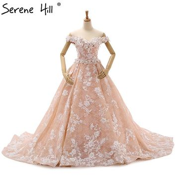 Best peach wedding dress products on wanelo romantic peach wedding dress 3d flower photography bridal gown junglespirit