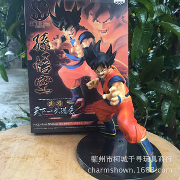 16cm Monkey King Goku Dragon Ball Z Action Figure PVC Collection toys for christmas gift brinquedos Collectible with Retail box