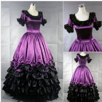 Southern Victorian Dress Ball Gown Gothic Plus Size Customized