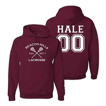 Derek Hale 00 Teen Wolf Beacon Hills Inspired Lacrosse Adult Fashion Apparel
