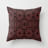 Red & Black Etch Throw Pillow by 2sweet4words