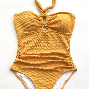Cupshe Bubbly Face Halter One-piece Swimsuit