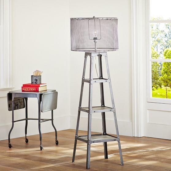 industrial ladder floor lamp from pbteen go to your room. Black Bedroom Furniture Sets. Home Design Ideas