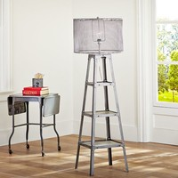 Industrial Ladder Floor Lamp