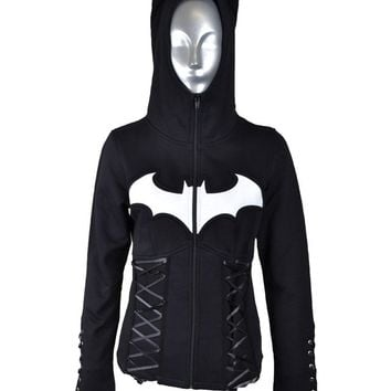 Poizen Batman Night Girls Hoodie :: VampireFreaks Store :: Gothic Clothing, Cyber-goth, punk, metal, alternative, rave, freak fashions