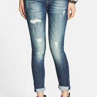 Vigoss 'Thompson' Sequin Pocket Skinny Jeans (Dark) (Juniors) | Nordstrom