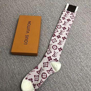 Louis Vuitton Woman Cotton Knitwear Socks Stockings