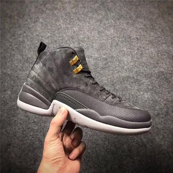 Nike Air Jordan 12 Retro Men Basketball Shoes Dark Grey