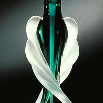 Tapered Twist Perfume Bottle by Thomas Kelly: Art Glass Perfume Bottle | Artful Home