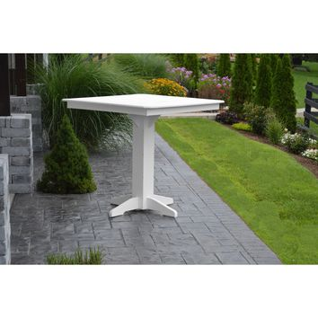 """A & L Furniture Recycled Plastic 44"""" Square Bar Table  - Ships FREE in 5-7 Business days"""
