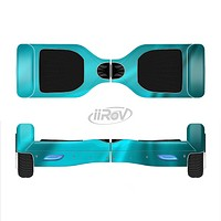 The Turquoise Blue Highlighted Fabric Full-Body Skin Set for the Smart Drifting SuperCharged iiRov HoverBoard
