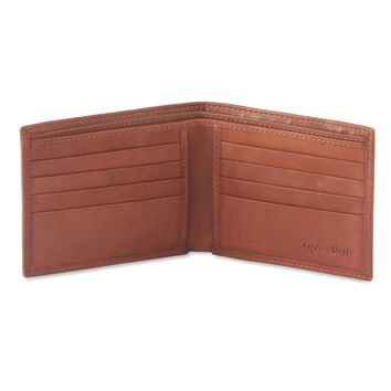 200160-TN Slim Bifold Leather Wallet in Tan Color | Style n Craft