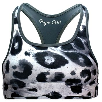 Reversible Sports Bra in Snow Leopard