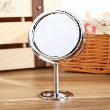 New arrival!Circular Makeup Mirror Dual 2 Sided Round Shape Vanity Rotating Cosmetic Mirror Stand Magnifier Mirror