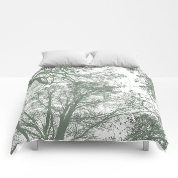 Abstract Trees Comforters by ARTbyJWP