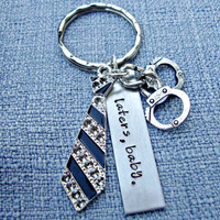 Hand Stamped Fifty Shades Key Chain Laters Baby Keychain 50 Shades Key Ring