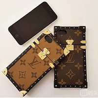 LV Hot ! iPhone X iPhone 8 iPhone 8 Plus - IPhone Case For iphone 6 6s 6plus 6s plus iPhone 7 iPhone 7 plus Case Coffee