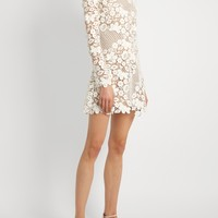 Floral guipure-lace mini dress | Self-portrait | MATCHESFASHION.COM US