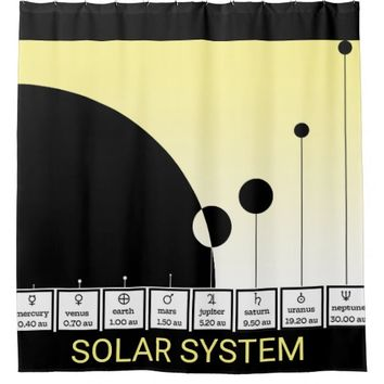 THE SOLAR SYSTEM - abstract model Shower Curtain