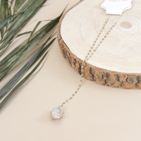 Riviera Quartz Pendant Necklace, Gold