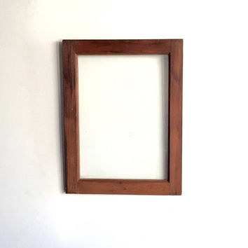 Vintage 1 Pane Window Frame - 18 x 24, Brown, Rustic, Antique, Wood, Wedding, Engagement, Home, Photos, Picture Frame, Holiday, Decor