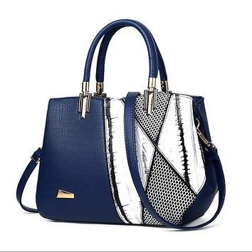 JOOZ Fashion Serpentine Woman Shoulder bags Famous Brand Design Women Luxury Leather Handbags Mujer Bolsas patchwork Hobos totes