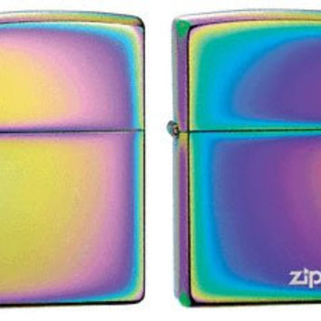 Zippo Lighter Set - Spectrum and Spectrum with Name Logo Pack of 2