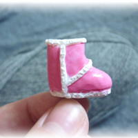 Girly ugg dust plug, earphone iphone accessory 3 3s 4 4s 5, barbie pink dust proof