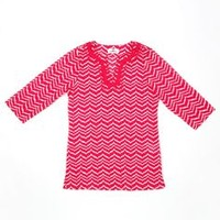 Girls Whale Tail Chevron Tunic