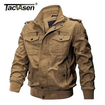 TACVASEN Men Winter Military Jacket Cotton Bomber Jacket Coat Navy Pilot Jacket Men's Air Force Casual Jacket Autumn Clothing