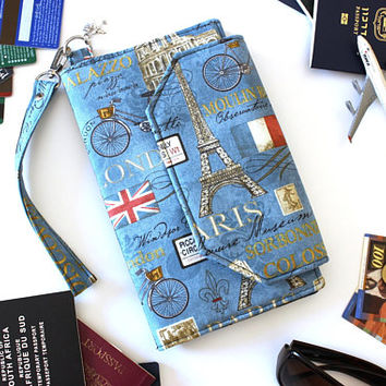 Family Travel Wallet - Family Passport Holder - Travel Document Holder - travel organizer - large travel wallet - large passport holder