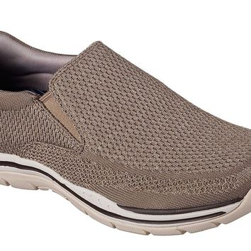 Skechers Taupe Expected-Gomel Shoes