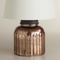 Mercury Glass Canister Accent Lamp Base - World Market