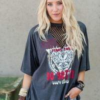 Printed Tiger Mesh Graphic Tee