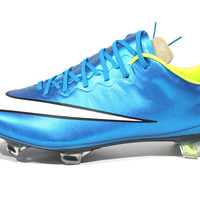 Nike Women Mercurial Vapor X FG Blue Lagoon Soccer Cleats 744950 400