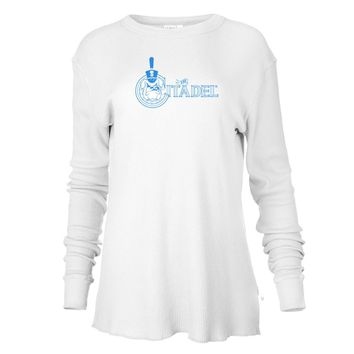 Official NCAA The Citadel Bulldogs - RYLCIT06 Mens/ Womens Boyfriend Long Sleeve Thermal