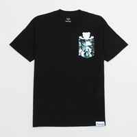 Simplicity Bear Pocket Tee in Black