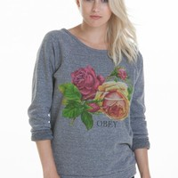 BED OF ROSES CREW NECK SWEATSHIRT