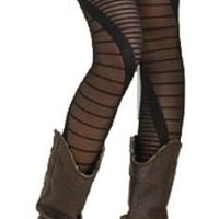 Modern DNA Sprial Pinstripe Pantyhose Tights