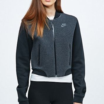 Nike Tech Fleece Bomber Jacket in Black - Urban Outfitters