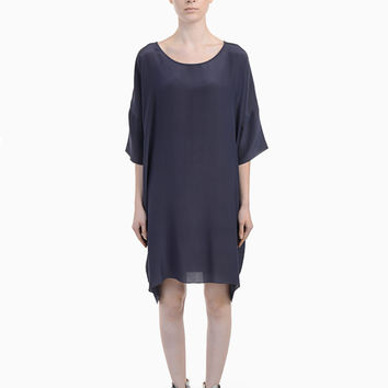 Crepe Silk T-Shirt Dress