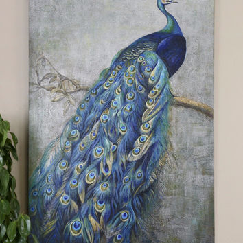 Peacock Painting 6' Tall