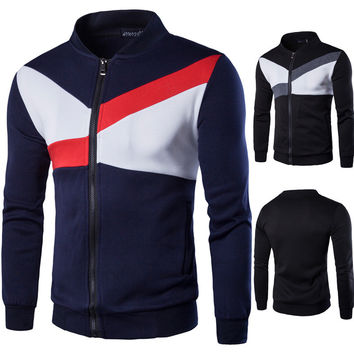 Men's Fashion Fashion Men Hoodies Stylish Plus Size Mosaic Tops Jacket [6528676227]