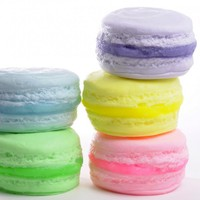 French Macaron Soap set of 3 cookie soaps