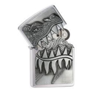 Zippo 28969 Fire Breathing Dragon Brushed Chrome Lighter